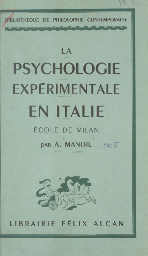 La psychologie expérimentale en Italie : école de Milan