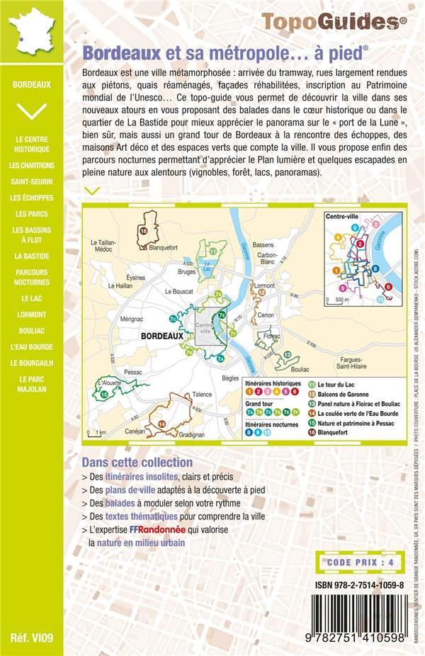 TOPO-GUIDES ; RANDOCITADINES ; Bordeaux et sa métropole... à pied (5e édition)