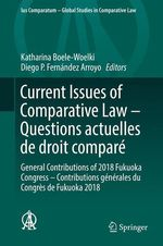 Vente EBooks : Current Issues of Comparative Law - Questions actuelles de droit comparé  - Diego P. Fernández Arroyo - Katharina Boele-Woelki