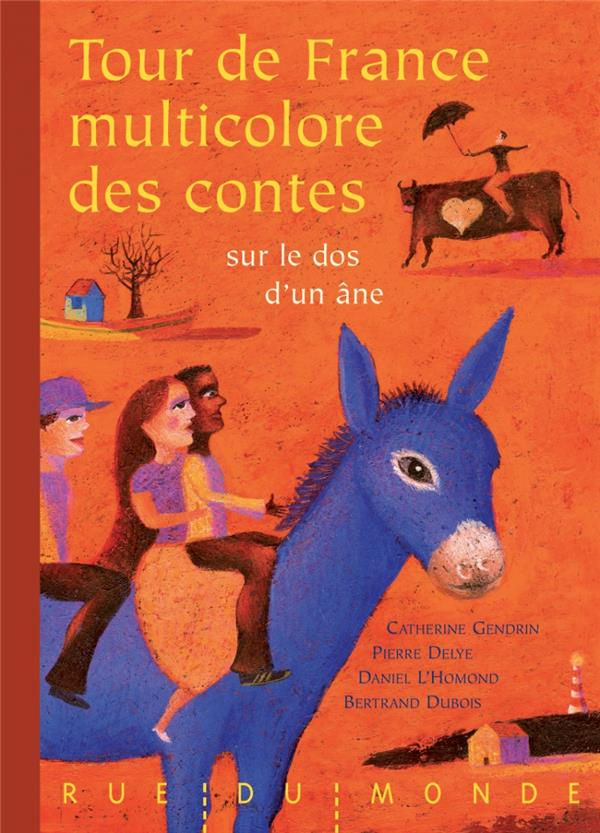Tour de france multicolore des contes sur le dos d'un âne
