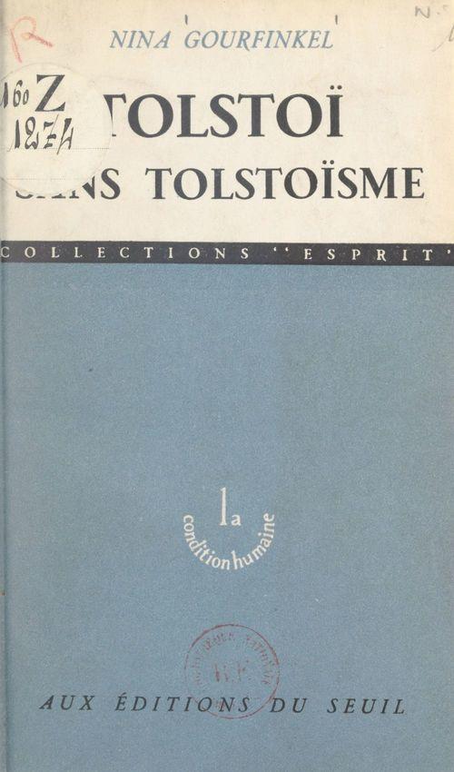 Tolstoï sans tolstoïsme