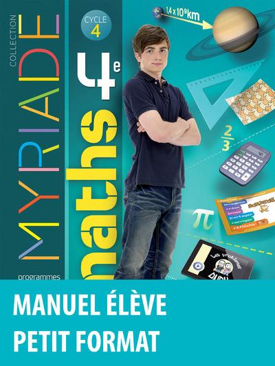 MYRIADE ; mathématiques ; cycle 4 ; 4ème ; manuel de l'élève (édition 2016)