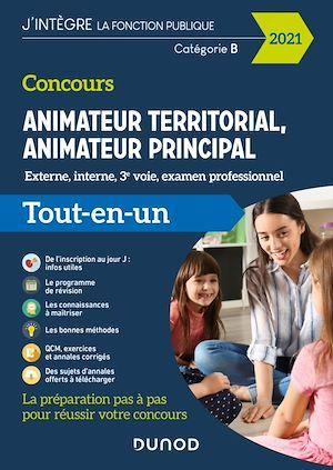 Concours animateur territorial, animateur principal ; externe, interne, 3e voie, examen professionnel (édition 2021)
