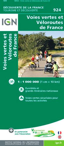 1M924 ; voies vertes et véloroutes de France