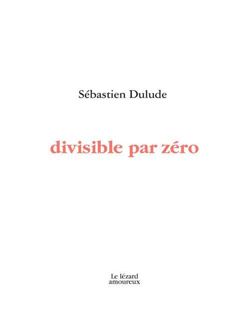 Divisible par zero