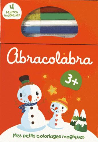 Abra colabra ; mes petits coloriages magiques ; Noël (rouge) 3+