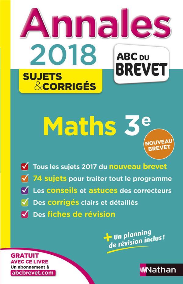 ANNALES ABC BREVET T.24 ; mathématiques ; 3e (édition 2017)