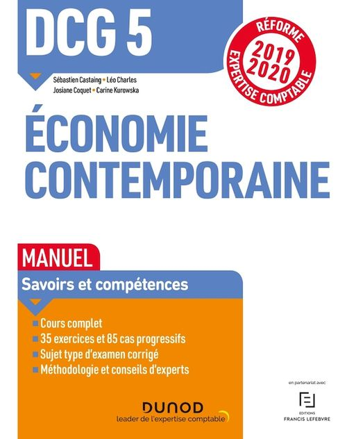 DCG 5 ; économie contemporaine ; manuel ; réforme expertise comptable (édition 2019/2020)