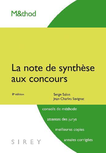 La Note De Synthese Aux Concours - 8e Ed.
