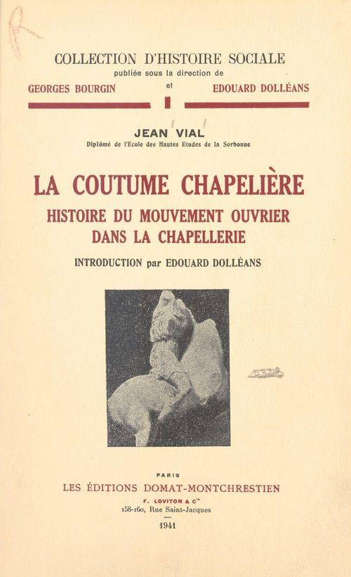 La coutume chapelière