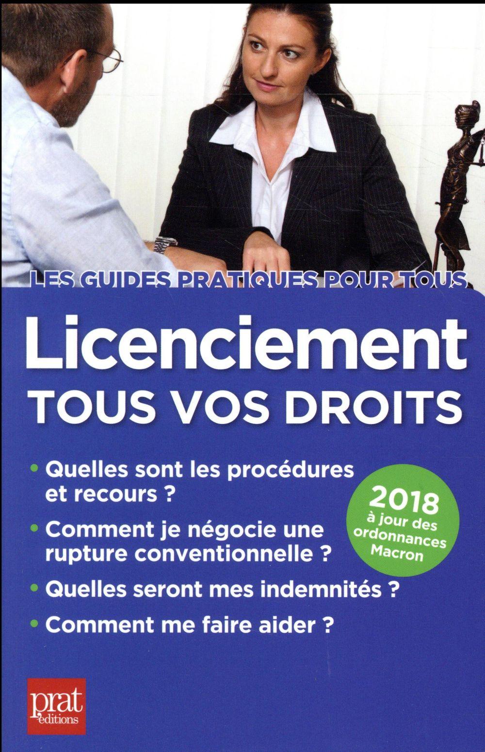 licenciement tous vos droits (édition 2018)