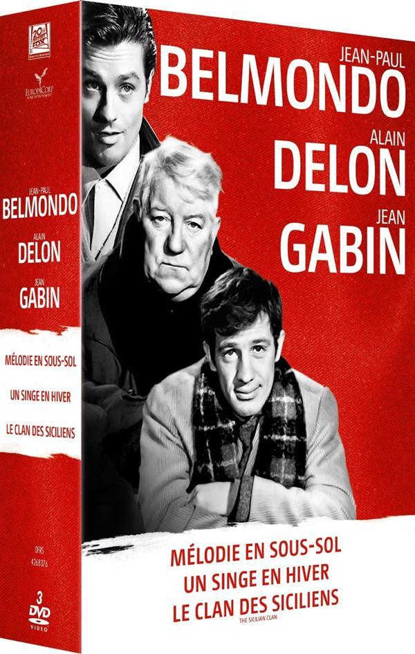 Belmondo-Delon-Gabin : Mélodie en sous-sol + Un Singe en hiver + Le Clan des Siciliens