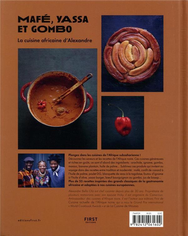 mafé, yassa et gombo ; la cuisine africaine d'Alexandre