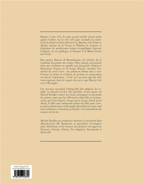 l'Evangile en majesté ; Jésus et Marie sous le regard de Duccio