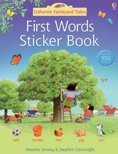 First words in english sticker book
