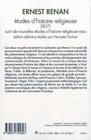 études d'histoire religieuse ; nouvelles études d'histoire religieuse