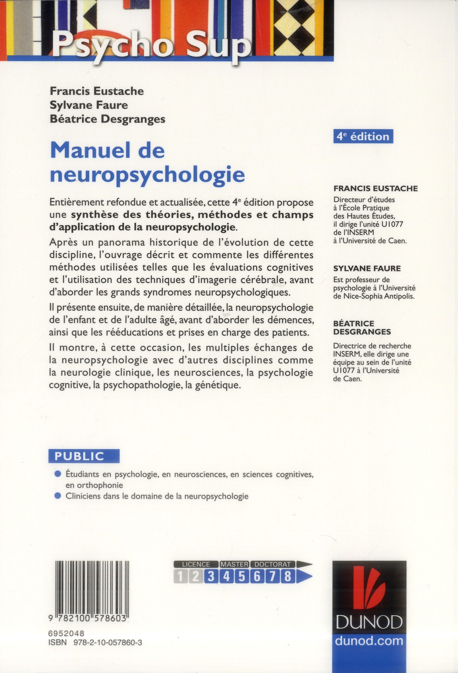 Manuel de neuropsychologie (4e édition)