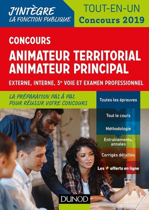 Concours animateur territorial, animateur territorial principal - tout en un - concours (édition 2019)