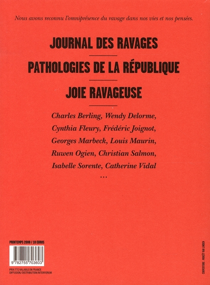 Ravages t.1 ; pathologies de la République, rupture d'anévrisme
