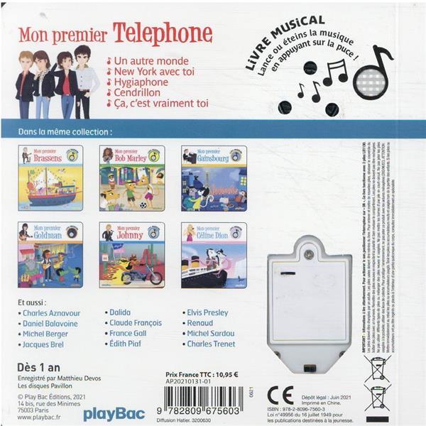 Livre musical ; mon premier Téléphone