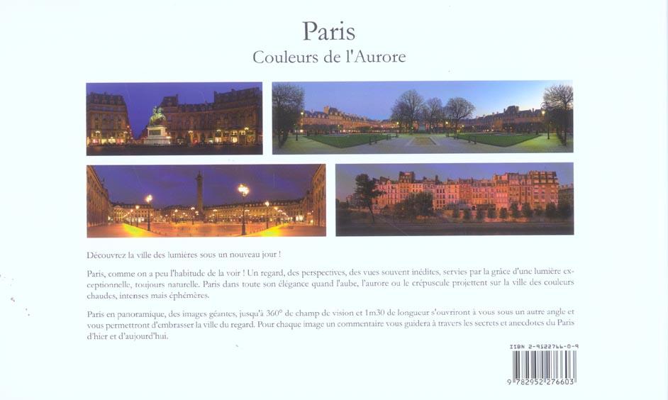 Paris, couleurs de l'aurore