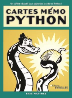 Cartes mémo Python ; synthaxe, concepts et exemples