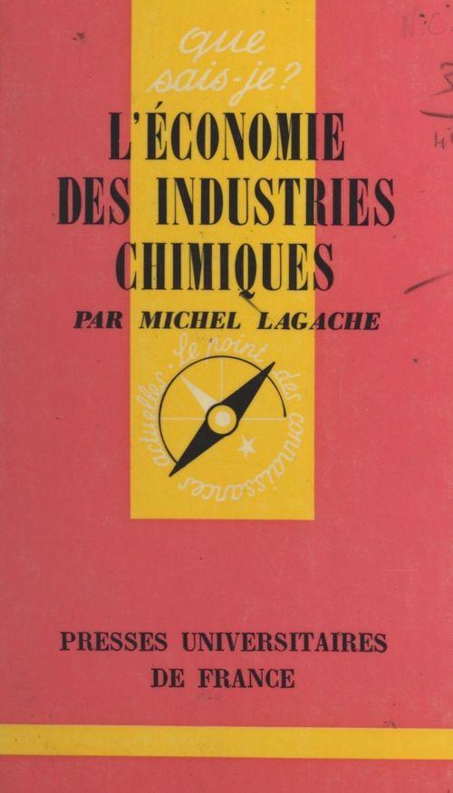 L'économie des industries chimiques