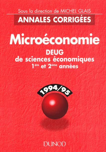 annales microeconomie deug 1 2 annee