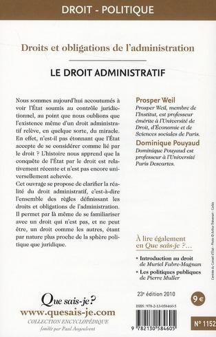 le droit administratif (23e édition)