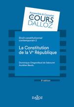 Vente Livre Numérique : Droit constitutionnel contemporain 2. La constitution de la Ve République - 9e éd.  - Dominique Chagnollaud