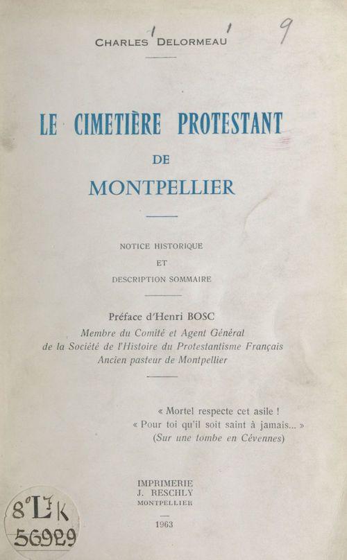 Le cimetière protestant de Montpellier