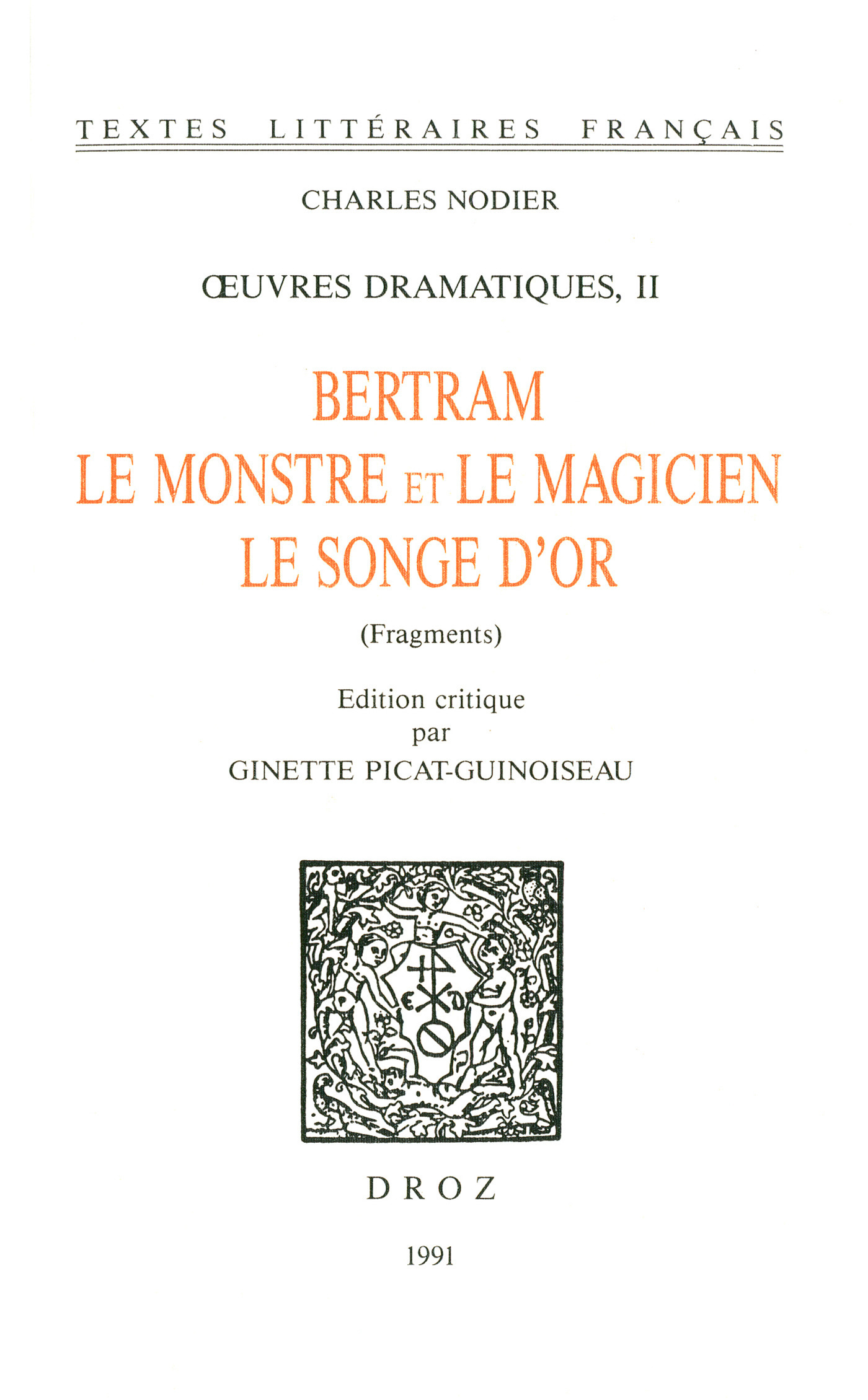 Oeuvres dramatiques