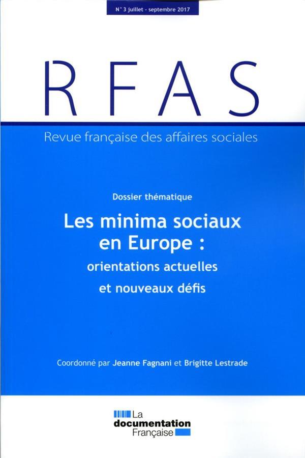Revue francaise des affaires sociales n.2017/3 ; les minima sociaux