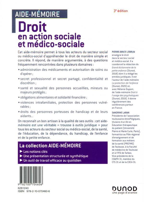 Droit en action sociale et médico-sociale en 45 notions (3e édition)