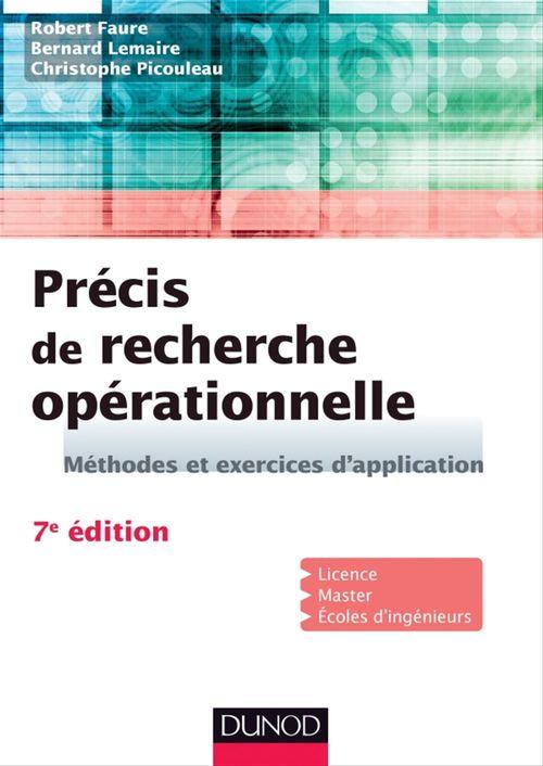 Précis de recherche opérationnelle ; méthodes et exercices d'application (7e édition)