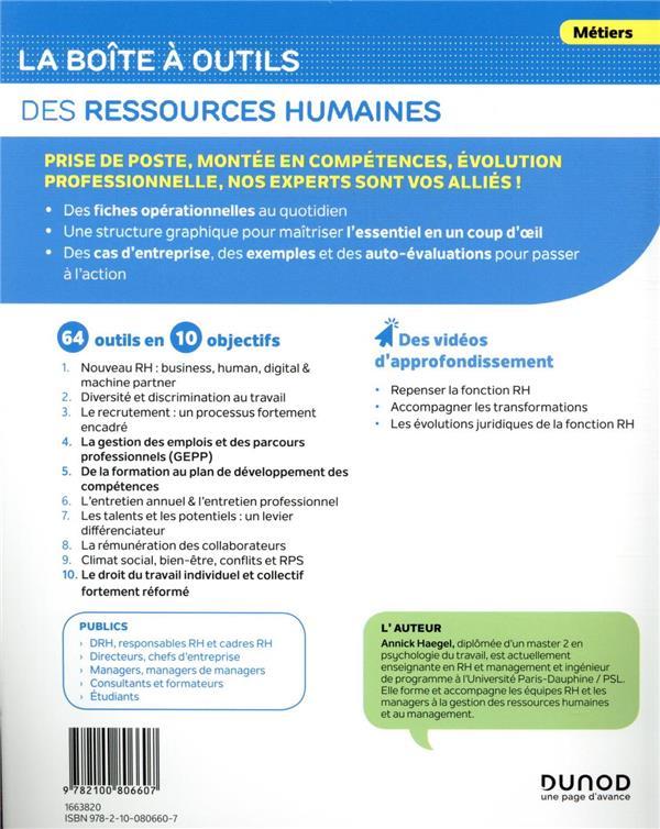 La boîte à outils ; des ressources humaines (3e édition)