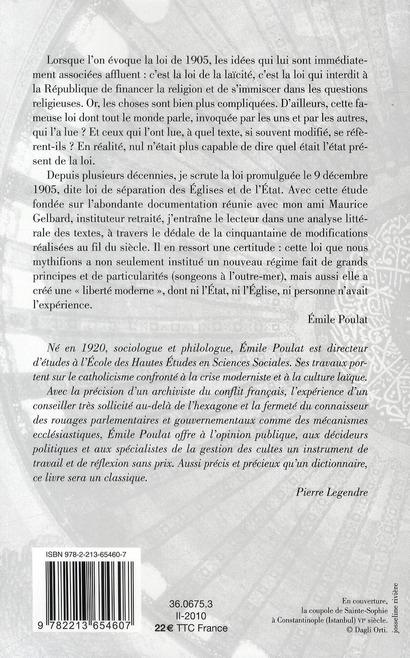 Scruter la loi de 1905 ; la République française et la religion