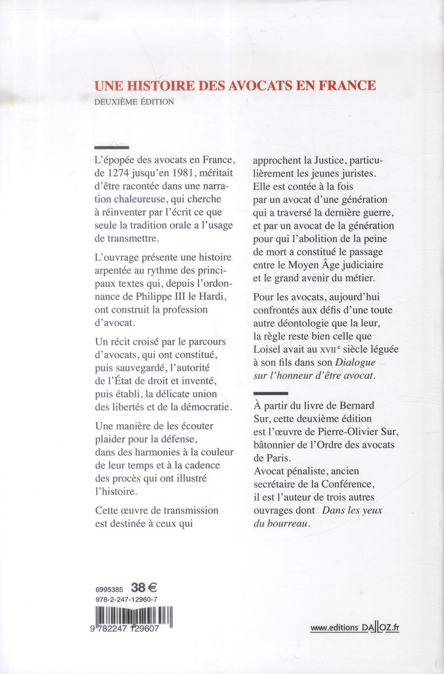 Une histoire des avocats en France (2e édition)
