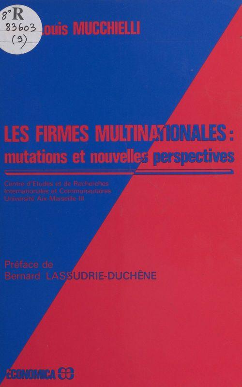 Les firmes multinationales : mutations et nouvelles perspectives