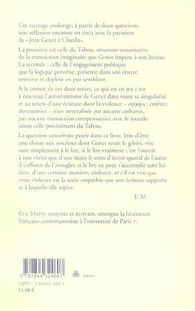 Jean genet, post-scriptum essai