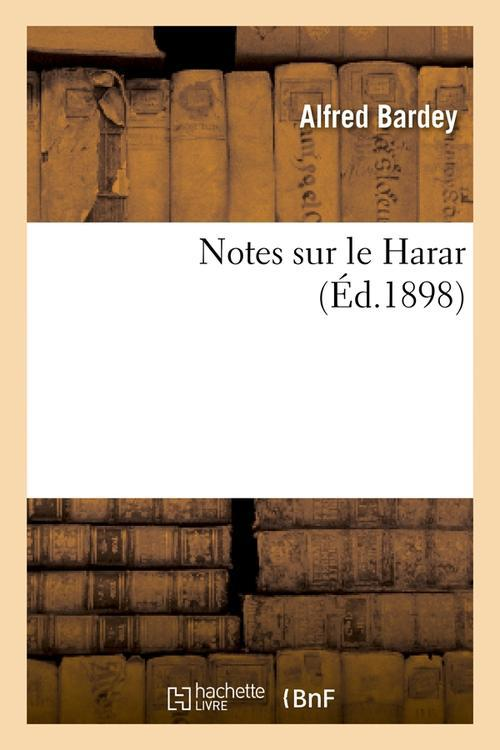 Notes sur le harar (ed.1898)