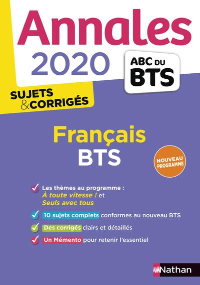 Annales Abc Bts Sujets Corriges Francais Bts Edition 2020 Collectif Nathan Grand Format Librairie Expression Chateauneuf Grasse