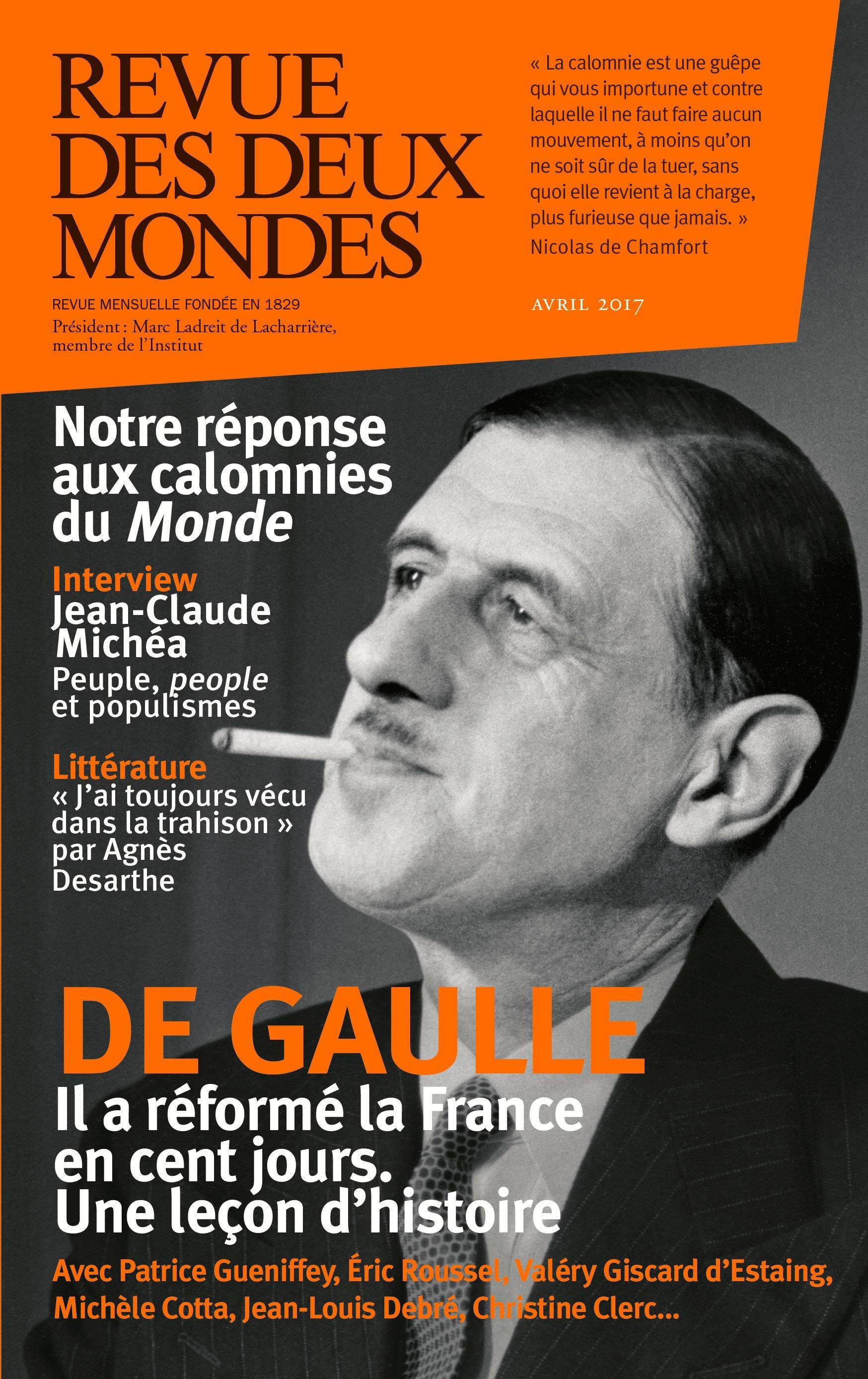 REVUE DES DEUX MONDES ; 1958, les cent jours de De Gaulle (édition 2017)