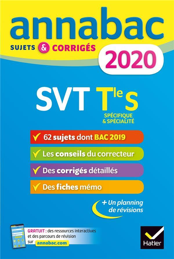 Annabac ; Svt ; Sujets Et Corriges (Edition 2020)