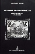 Vente EBooks : Plaisance près Montparnasse  - Jean-Louis Robert