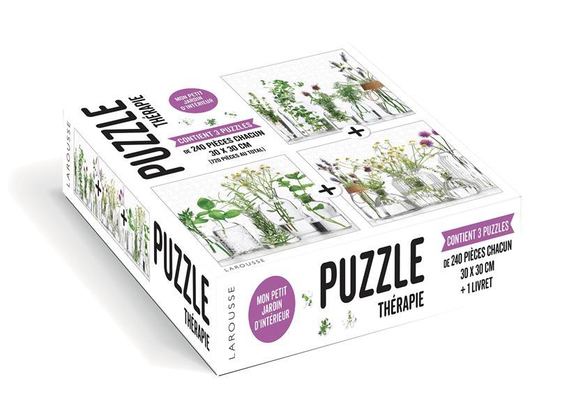 Puzzle thérapie ; mon petit jardin d'intérieur