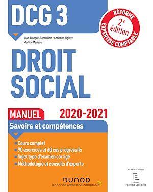DCG 3 ; droit social ; manuel (édition 2020/2021)