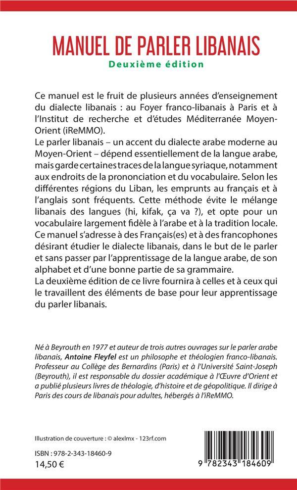 Manuel de parler libanais (2e édition)