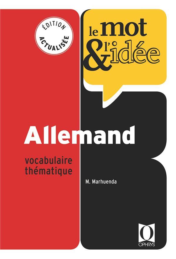 Le mot et l'idée ; allemand ; vocabulaire thématique