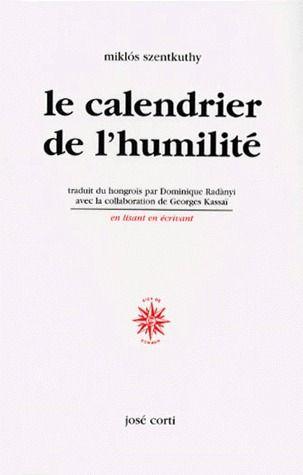 Le calendrier de l'humilité
